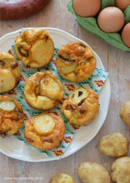 Easy and delicious mini spanish omelettes recipe - perfect for family friendly meals picnic food and lunch boxes - Eats Amazing UK