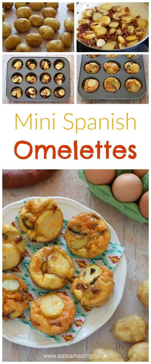 Easy and delicious mini spanish omelettes recipe - perfect for family meals picnics and lunch boxes - Eats Amazing UK
