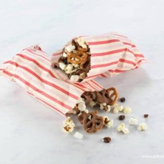 Easy Chocolate Popcorn Snack Mix Recipe