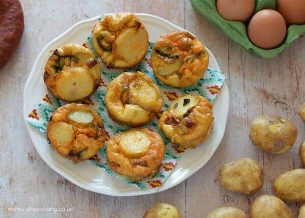 Easy mini spanish omelettes recipe - perfect for family friendly meals picnics and kids lunch boxes - Eats Amazing UK