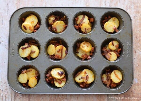 How to make mini Spanish omelettes in a muffin tin - Easy recipe from Eats Amazing UK