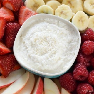 3 Ingredient Healthy Coconut Fruit Dip Recipe