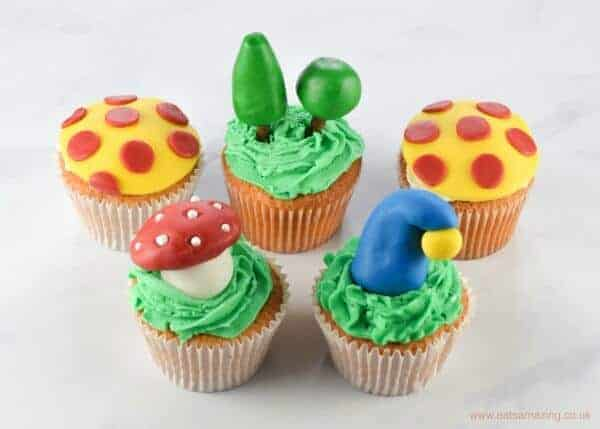 How to make Noddy Themed Cupcakes - with 4 cute designs - perfect for baby and toddler birthday cakes - Eats Amazing UK