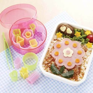 12 Piece Bento Cutter Set with Case from the Eats Amazing Shop - Fun Kids Bento Accessories UK