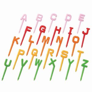 Alphabet Bento Food Picks from the Eats Amazing UK Bento Accessories Shop - Making Fun Food for Kids