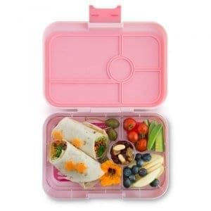 Amalfi Pink Tapas 4 bigger Yumbox divided lunch box for kids and adults from the Eats Amazing UK Bento Shop