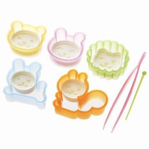 Animals & Faces Bento Cutters - Set of 10 from the Eats Amazing Shop - UK Bento Accessories
