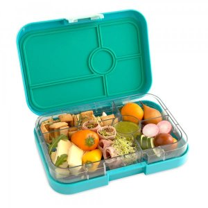 Antibes Blue Tapas 5 bigger Yumbox divided lunch box for kids and adults from the Eats Amazing UK Bento Shop