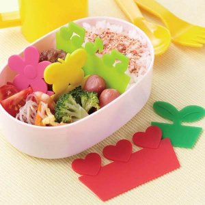 Bright Silicone Bento Box Dividers - Set of 5 from the Eats Amazing Shop - Fun Kids Bento Accessories UK
