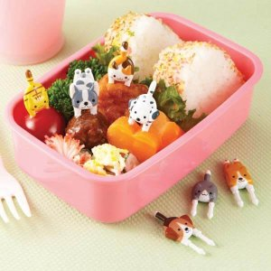 Cat and Dog Bento Food Picks - Set of 7 from the Eats Amazing Shop - Fun Kids Bento Accessories UK