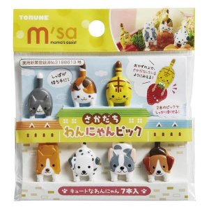 Cat and Dog Bento Food Picks - Set of 7 from the Eats Amazing UK Bento Shop - Making Fun Food for Kids