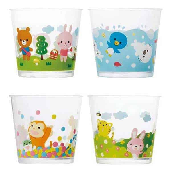 Clear Animal Friends Plastic Snack Cups Set Of 4 Eats Amazing