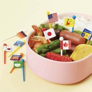 Flag Picks - Set of 12 from the Eats Amazing Shop - Fun Kids Bento Accessories UK