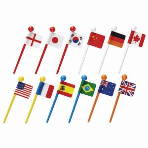 Flag Picks - Set of 12 from the Eats Amazing Shop - UK Bento Accessories
