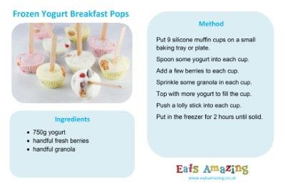 Frozen Yogurt Breakfast Pops Recipe Card