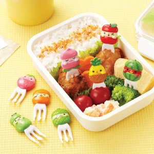 Fruit Fork Food Picks - Set of 8 from the Eats Amazing Shop - Fun Kids Bento Accessories UK