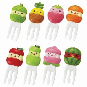 Fruit Fork Food Picks - Set of 8 from the Eats Amazing Shop - UK Bento Accessories