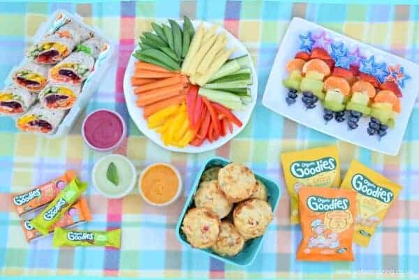 Fun and healthy rainbow picnic with Organix foods including yummy rainbow food recipes