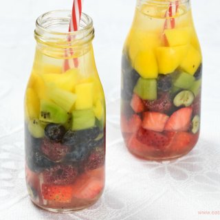 Rainbow Fruit Infused Water for Kids
