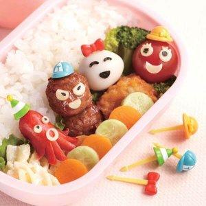 Hat Bento Food Picks - Set of 8 from the Eats Amazing Shop - Fun Kids Bento Accessories UK