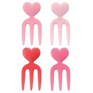 Heart Fork Picks - Set of 12 from the Eats Amazing Shop - UK Bento Accessories