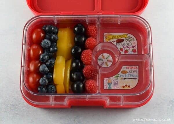 How to make a power rangers lunch box for kids - extra fun food for a special occasion from Eats Amazing UK