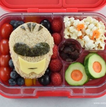 How to make a power rangers lunch box for kids - fun food for a special occasion from Eats Amazing UK