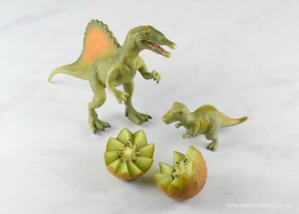 How to make easy Kiwi Fruit Dinosaur Eggs - fun snack or healthy party food idea for kids from Eats Amazing UK