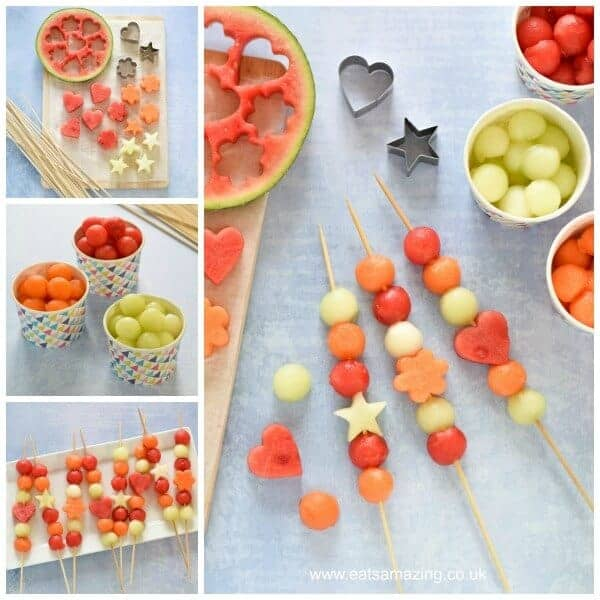 Easy melon fruit kebabs for kids recipe eats amazing how to make easy melon kebabs gorgeous starter or party food recipe for summer forumfinder Images