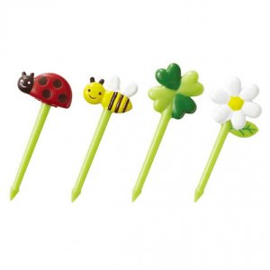 Ladybird and Bee Bento Food Picks - Set of 8 from the Eats Amazing Shop - UK Bento Accessories