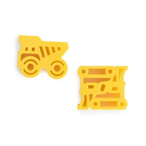 Lunch Punch Construction Sandwich Cutters Set of 2 - Eats Amazing UK Bento Shop - cute healthy food for kids - fun lunch box and party food ideas
