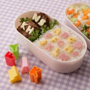 Mini Alphabet Food Cutters from the Eats Amazing Shop - Fun Kids Bento Accessories UK