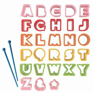 Mini Alphabet Food Cutters from the Eats Amazing Shop - UK Bento Accessories