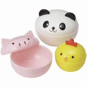 Mini Animal Containers Pig Panda and Chick - Set of 3 from the Eats Amazing Shop - UK Bento Accessories