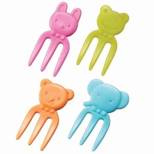 Mini Bright Animal Fork Picks - Set of 12 from the Eats Amazing Shop - UK Bento Accessories