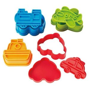 Mini Vehicle Stamped Sandwich Cutters - Set of 4 from the Eats Amazing Shop - UK Bento Accessories
