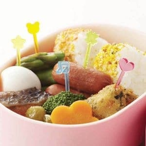 Mixed Rainbow Food Picks - Set of 50 from the Eats Amazing Shop - Fun Kids Bento Accessories UK