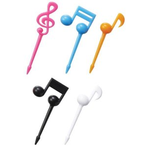 Music Notes Bento Food Picks - Set of 16 from the Eats Amazing Shop - UK Bento Accessories