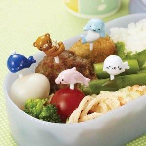 Ocean Friends Bento Food Picks - Set of 8 from the Eats Amazing Shop - Fun Kids Bento Accessories UK
