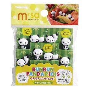 Panda Bento Food Picks - Set of 8 from the Eats Amazing UK Bento Shop - Making Fun Food for Kids