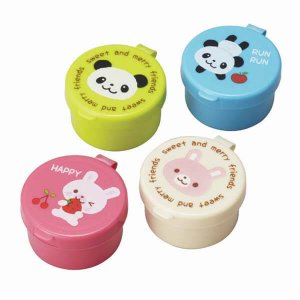 Panda and Rabbit Sauce Containers - Set of 4 from the Eats Amazing Shop - UK Bento Accessories