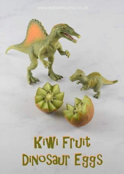 Quick and Easy Kiwi Fruit Dinosaur Eggs - make healthy food fun for kids with this simple food art trick - Eats Amazing UK