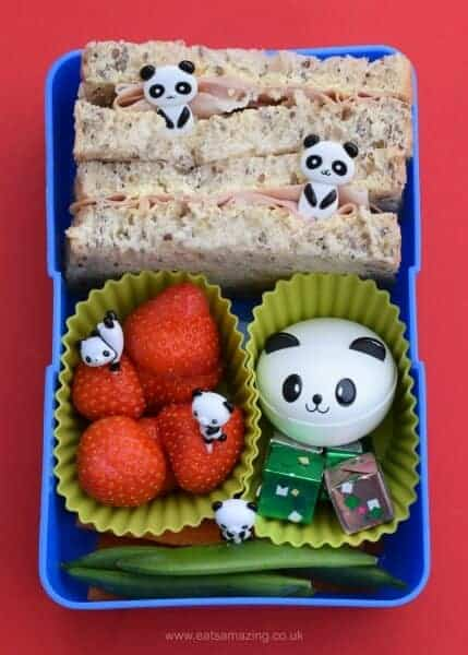 Quick and easy panda bento - easy packed lunch idea for kids - school lunch ideas from Eats Amazing UK