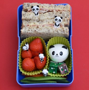 Quick and easy panda themed bento - easy packed lunch idea for kids - school lunch ideas from Eats Amazing UK