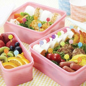 Rainbow Flowers Bento Food Picks - Set of 12 from the Eats Amazing Shop - Fun Kids Bento Accessories UK