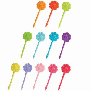 Rainbow Flowers Bento Food Picks - Set of 12 from the Eats Amazing Shop - UK Bento Accessories