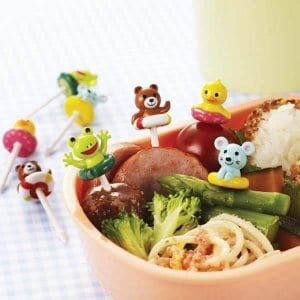 Swimming Animals Bento Food Picks - Set of 8 from the Eats Amazing Shop - Fun Kids Bento Accessories UK