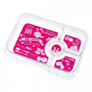 Tapas 4 Tray for the Yumbox UK Bento Lunch Box for Adults and Kids from the Eats Amazing UK Bento Shop - Botanical