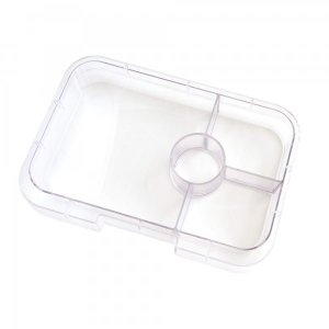 Tapas 4 Tray for the Yumbox UK Bento Lunch Box for Adults and Kids from the Eats Amazing UK Bento Shop - Clear