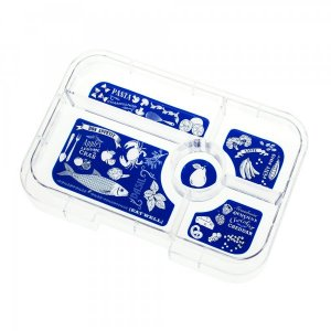 Tapas 5 Tray for the Yumbox UK Bento Lunch Box for Adults and Kids from the Eats Amazing UK Bento Shop - Bon Appetit